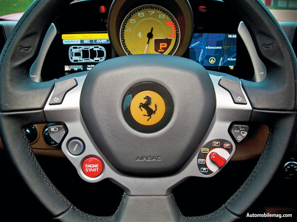 the 458 italia is equipped with a racing manettino switch leading toward more sporting set ups and giving the driver a wider selection of electronic - Ferrari Italia 458 Interior