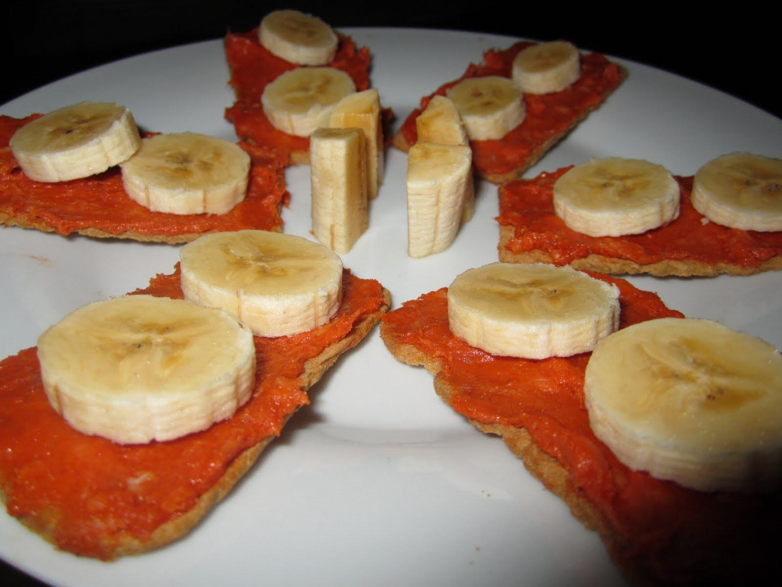 Las recetas de carla canap s de sobrasada con pl tano for Recetas para canape