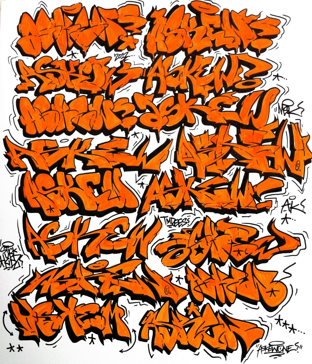 How to Draw Wild Graffiti Letters  M  ART EDUCATION