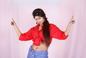 Charulatha Hot Photo shoot in Lungi-thumbnail-3
