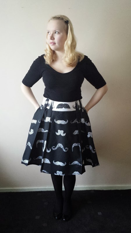 Stepalica Patterns: Zlata skirt - testing the pattern, Hannah
