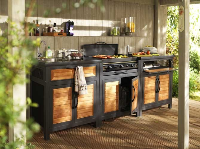 decorando la francesa cozinhas de exterior. Black Bedroom Furniture Sets. Home Design Ideas