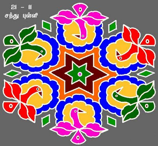 Rangoli Designs With Dots For New Year 2012 rangoli designs for ...