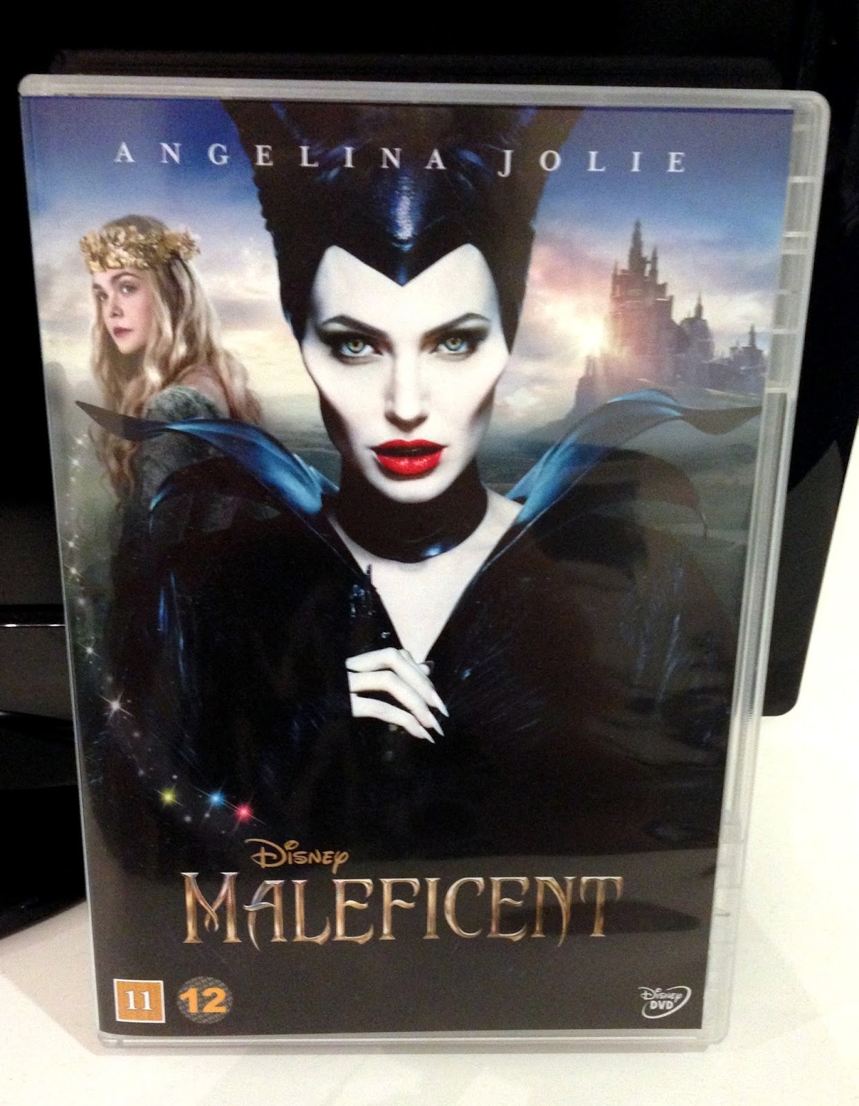 A picture of a dvd movie called Maleficent which disney made and angeline jolie stars in