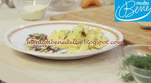 Pappardelle all'acqua con alici e limone ricetta Parodi per Molto Bene su Real Time