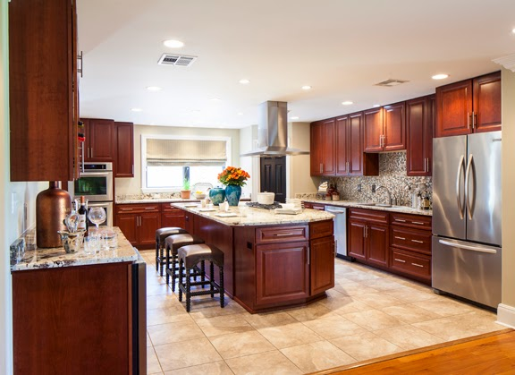 A New Back Splash Of Metal Penny Tiles Was Added Kitchen Decor By Valorie Hart Designs