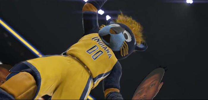 NBA 2K15 'Yakkem' Trailer Gameplay Screenshot - Pacers' Mascot 'Boomer the Panther'