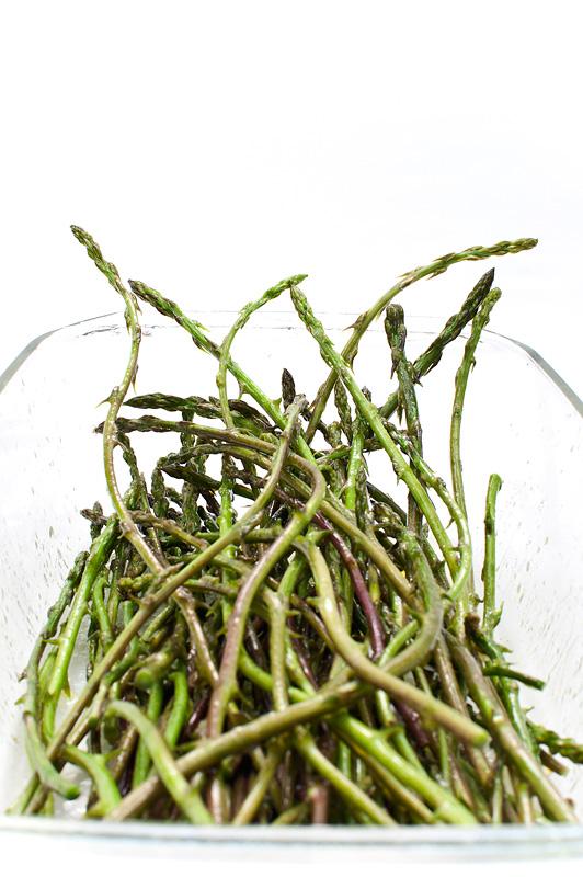 Wild asparagus marinated