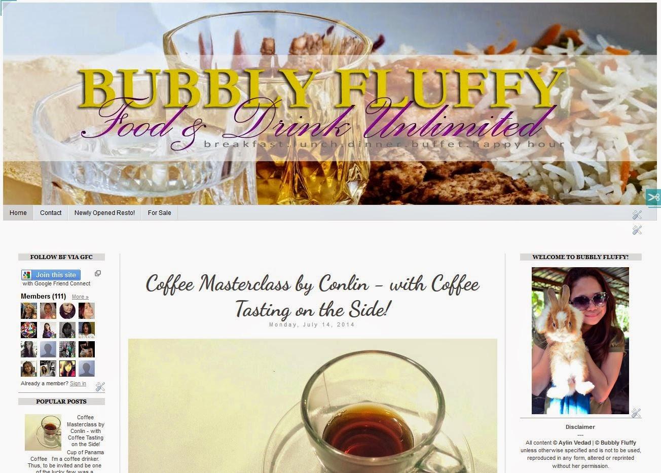My food blog - www.BubblyFluffy.com