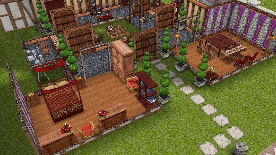 Casas sims castillo medieval los sims freeplay for Planos de casas sims