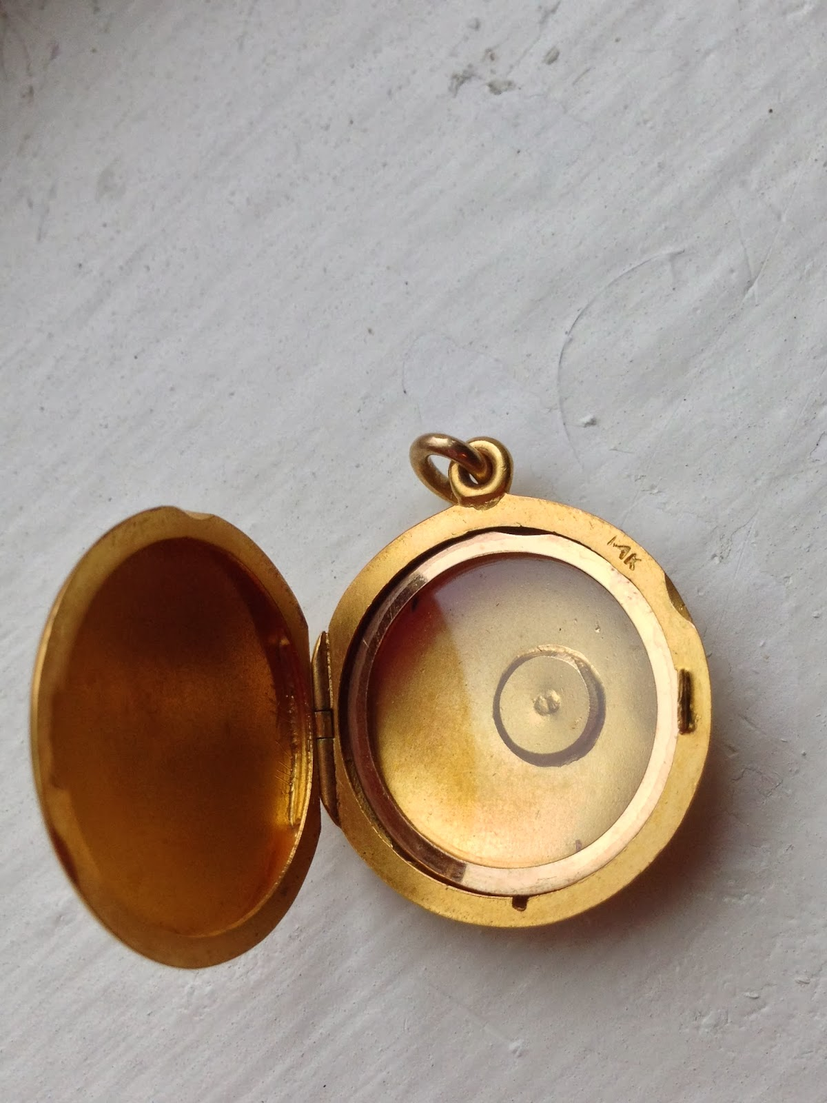 solid necklace vintage lockets gold locket original heart