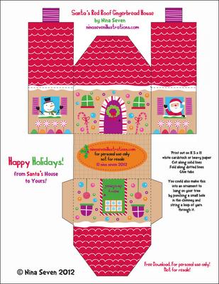 Nina seven free gingerbread house designs