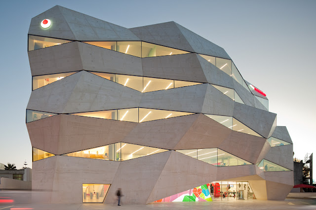 This modern and unique Vodafone Office is located in Oporto, Portugal.