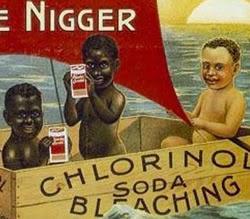 Propaganda racista do Sabão Chlorinol veiculada nos Estados Unidos.