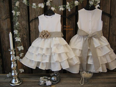 ruffled white flower girl dress