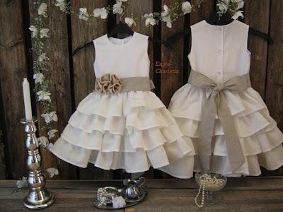 ruffled white flower girl dress