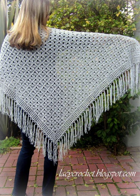 Crochet Stitches Nz : Now let me tell you how I made this shawl. Therewere four steps: