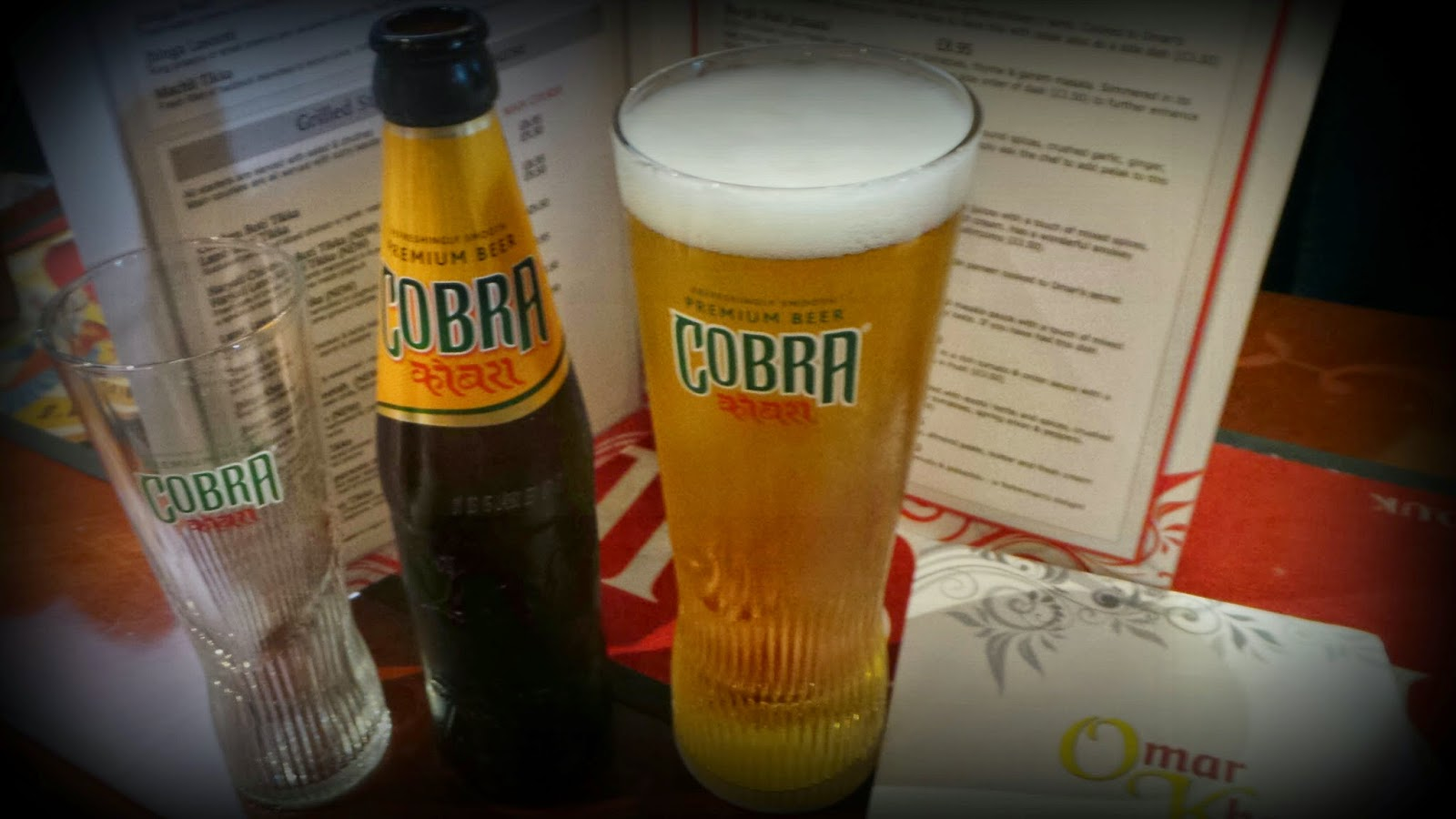 Omar Khans curry beer