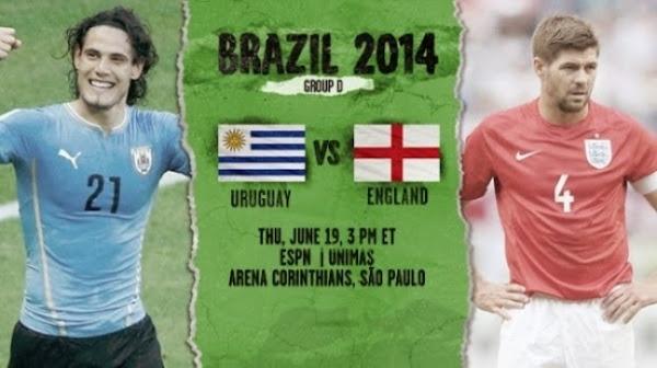 Uruguay vs. Anglia 19 iunie 2014