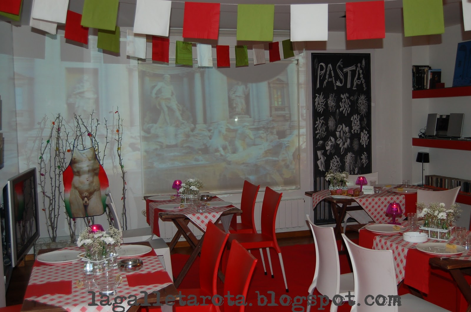 Decoracion Italiana Para Fiestas ~ Cena italiana para celebrar el cumplea?os de Eva