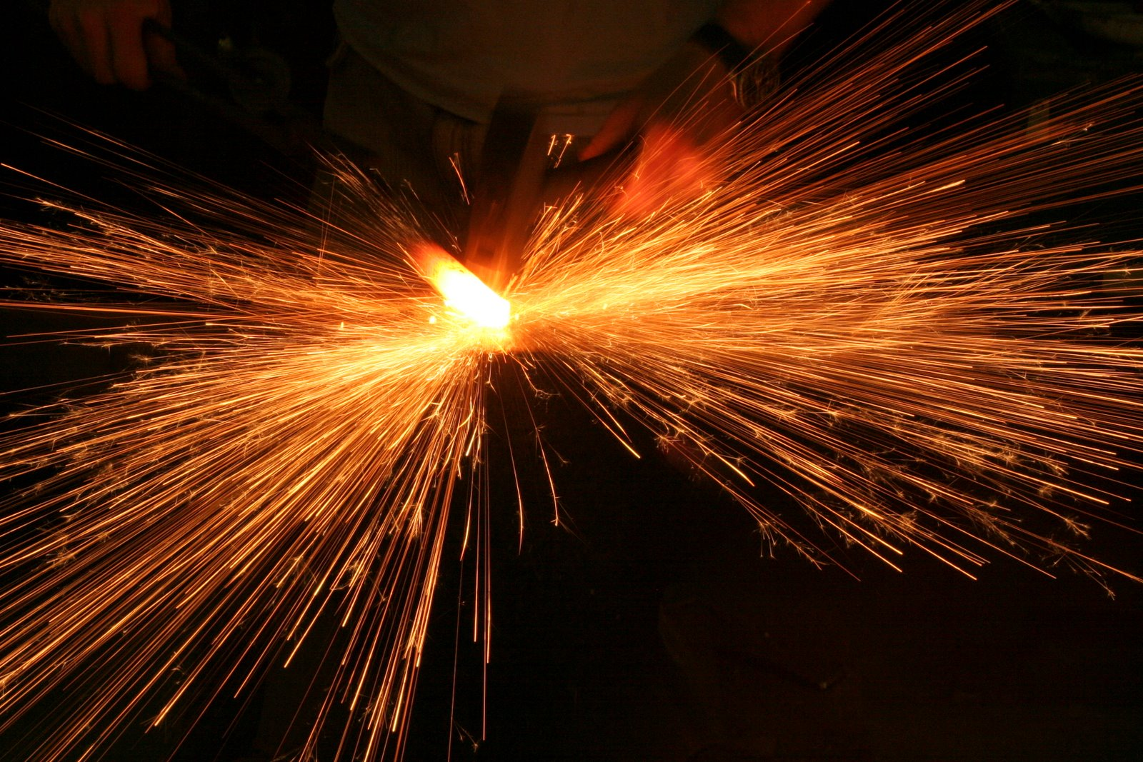 Fire Hammer Anvil Sparks