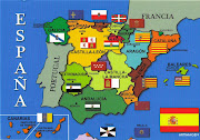 SPAINmap postcard. Posted by RAFAŁ at 17:51:00. Labels: SPAIN