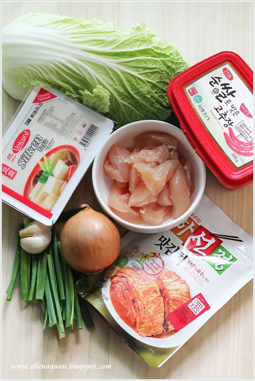 Korean cooking project kimchi tofu soup for Cuisine projet