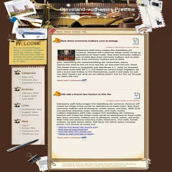 Counseling blogger template. converted WordPress to Blogger template