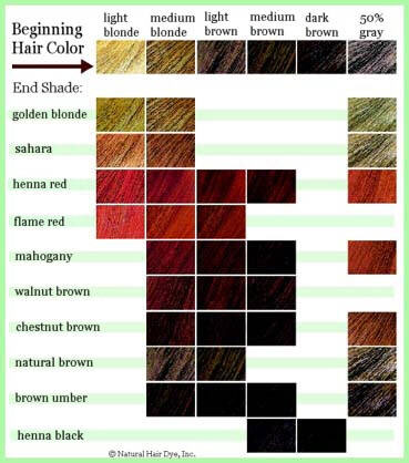 Revlon Hair Color Chart
