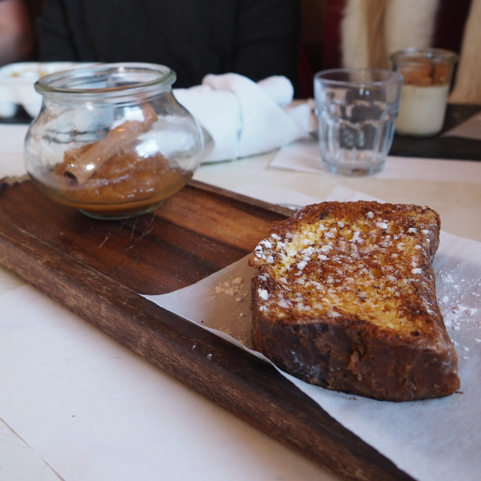 french toast at La Fruitiere, Val d'Isere, France