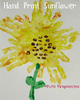 Kids Flower Spring Crafts Handprint