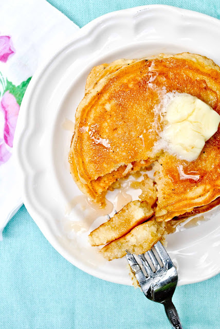 Thick, fluffy, and oh so buttery, these Buttermilk Pancakes will make you feel like you're at a diner.