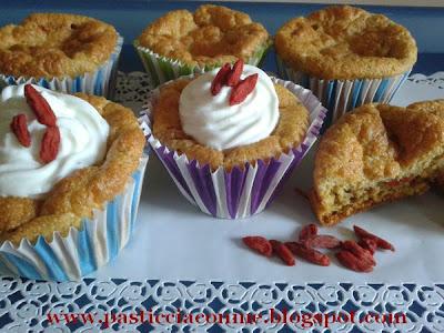 muffins con bacche di goji