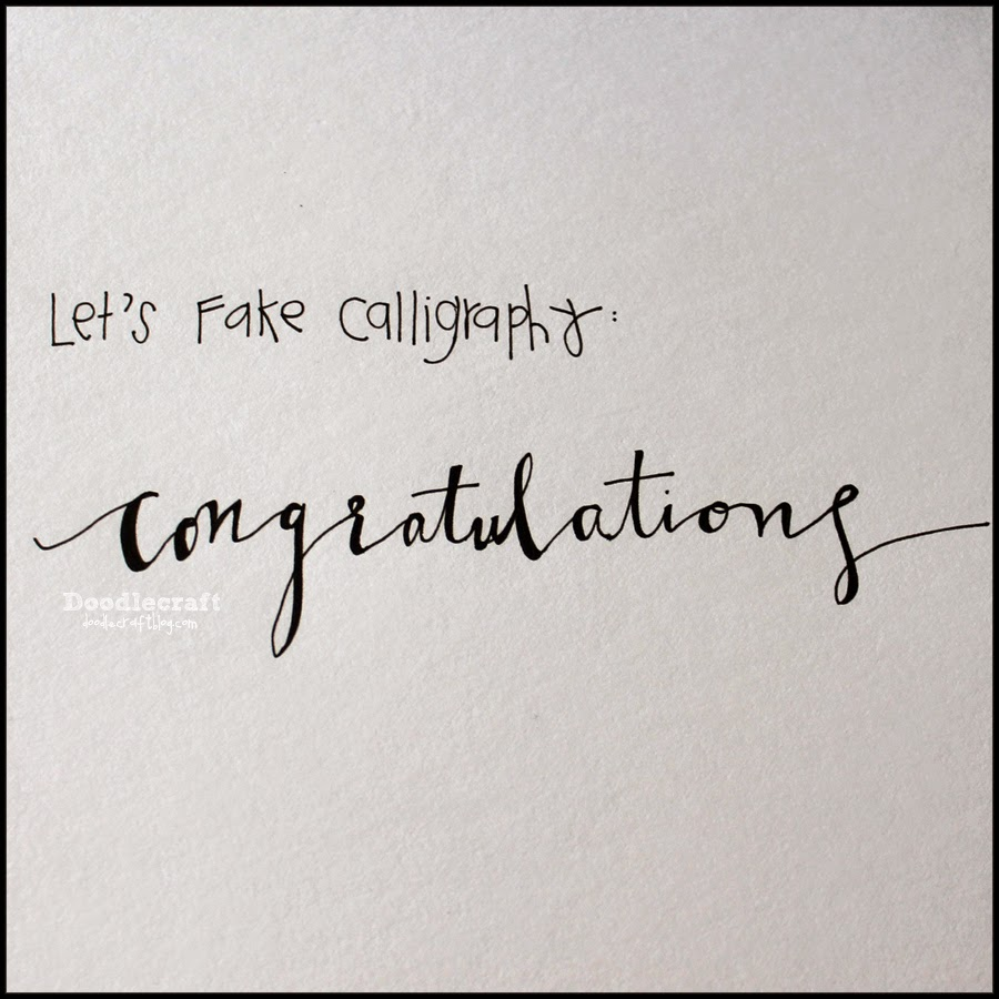 I Started Off By Writing Out The Word Congratulations In A Exaggerated Drawn Cursiveremember Cursive This Is Where 3rd Grade Pays