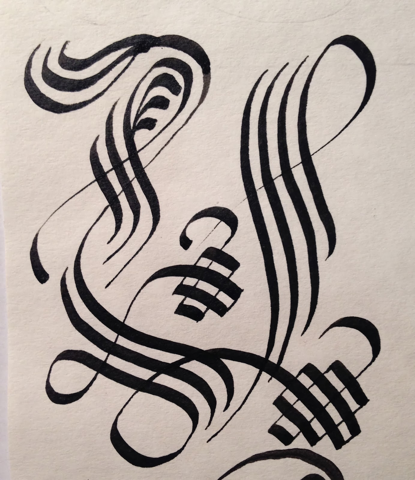Attempt Number Three I Wasnt Happy With The Flourishes On Left Or Loops Bottom So Didnt Even Finish It At Least Felt More Like A U