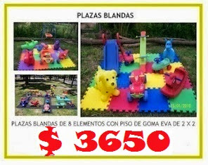 PLAZA BLANDA 8 ELEMENTOS + PISO 2X2