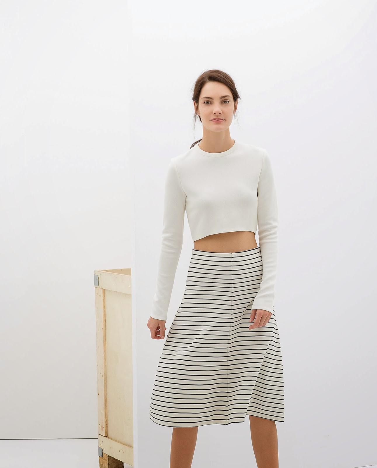 zara stripey skirt