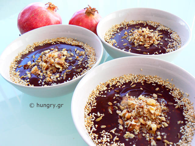 Grape Must Pudding-Moustalevria