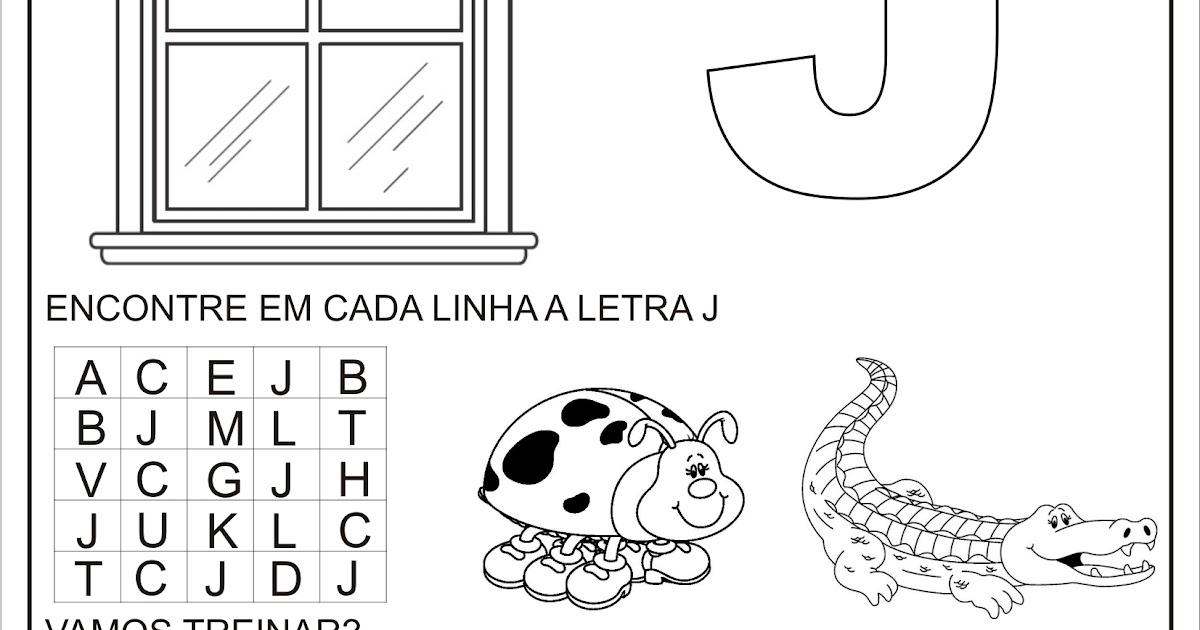 Extremamente Atividade para Casa Letra J | Ideia Criativa - Gi Barbosa Educação  VB03