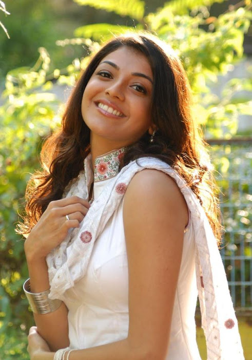 Kajal Agarwal Gorgeous in White Salwar Latest Stills