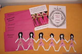 faça você mesma convite para bridesmaids damas de honra