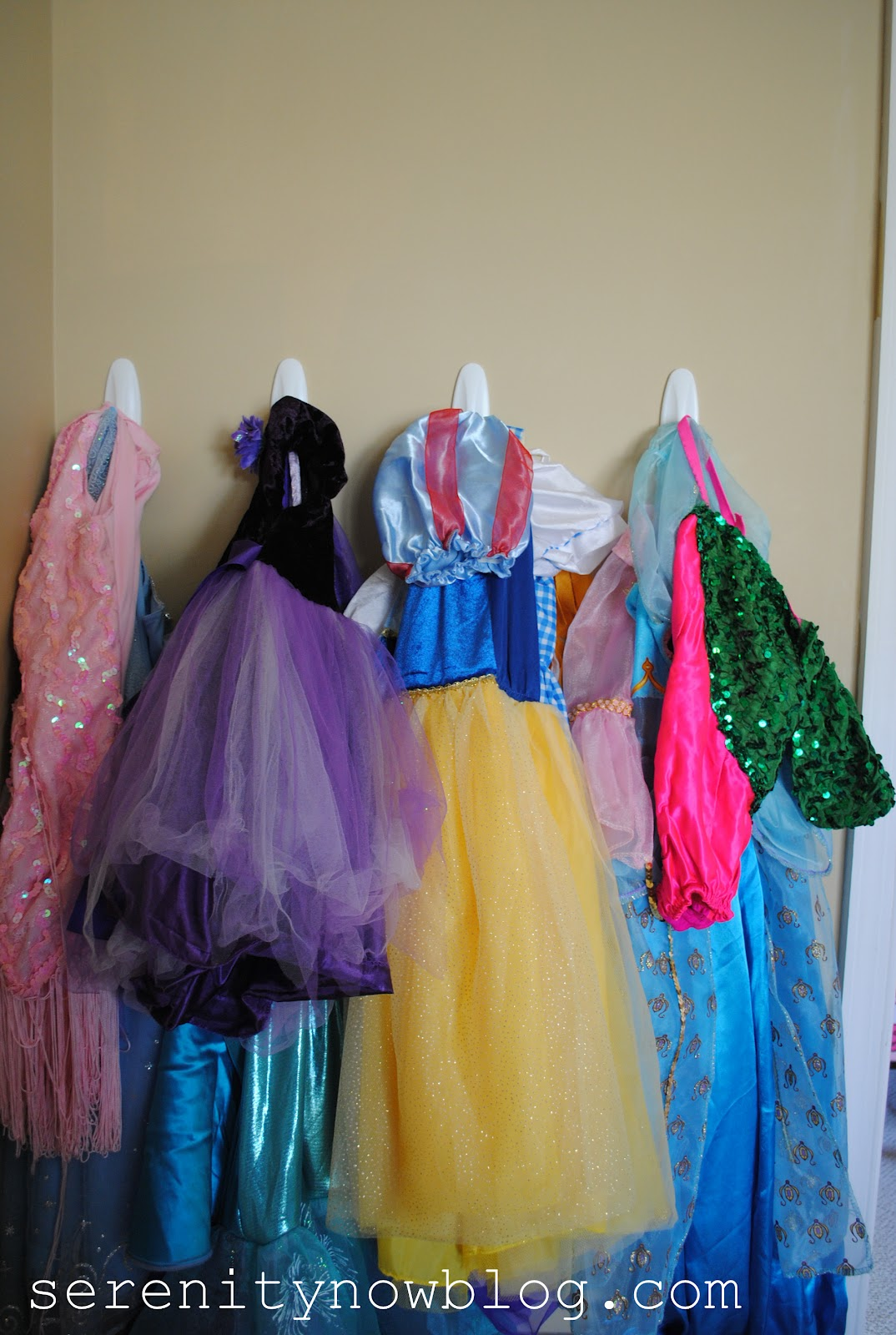 Storing dress up clothes
