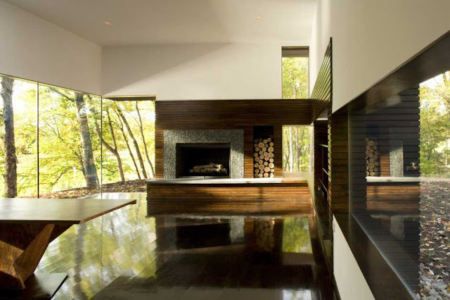 Cooper Joseph Studio interior fireplace