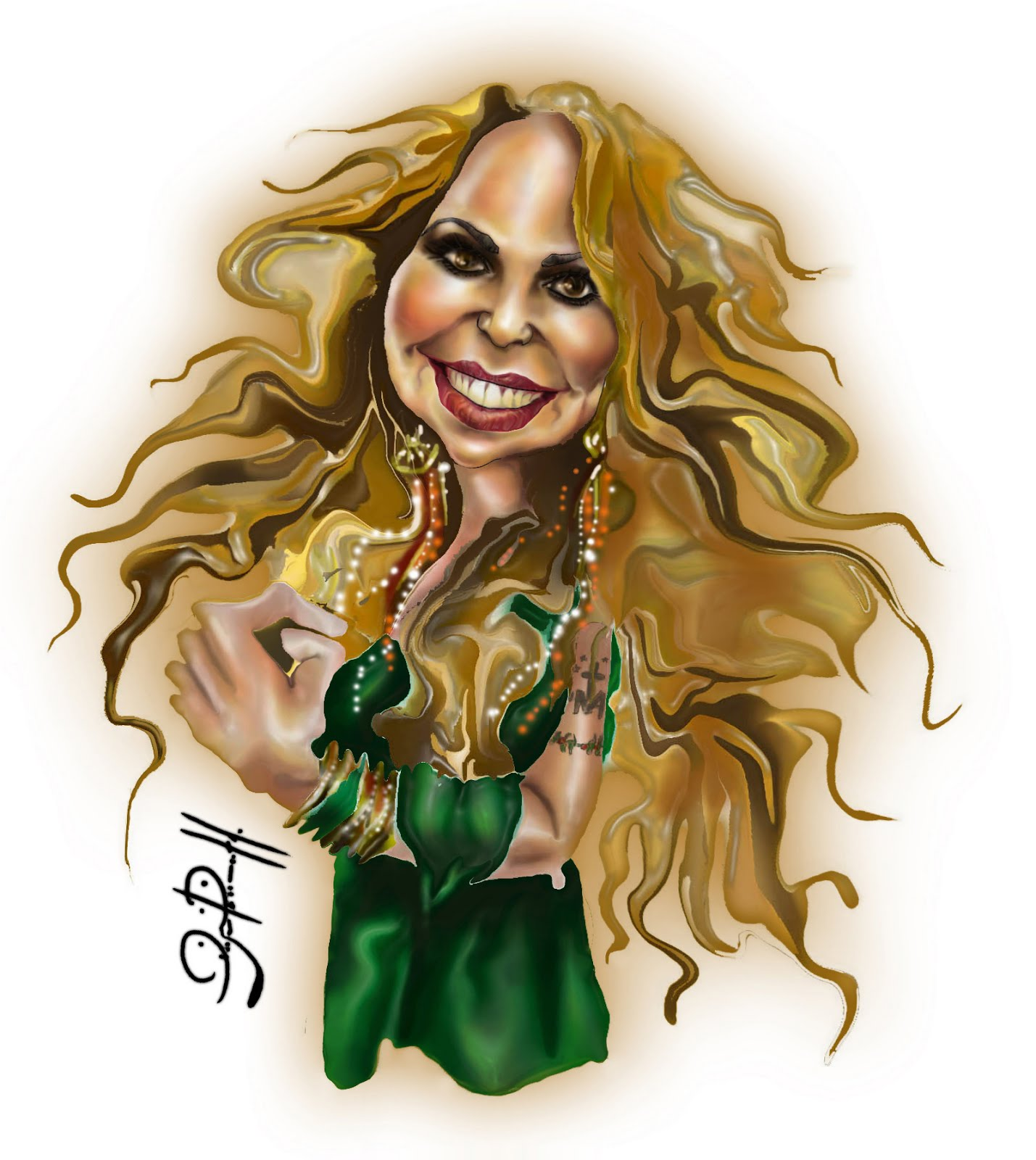 Elba Ramalho _caricatura digital