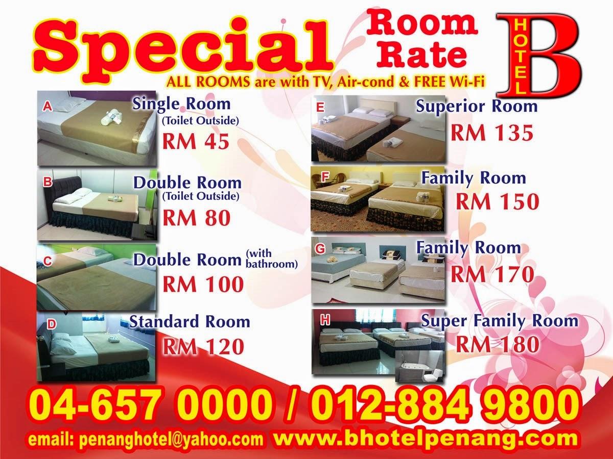 B Hotel Bayan Lepas Penang Budget Bilik Dari RM45 Nett