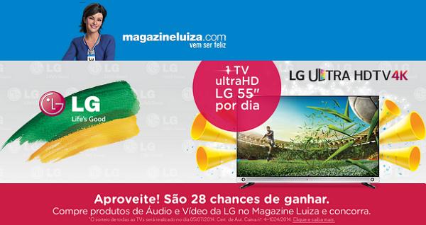 "Promoção Magazine Luiza e LG - ""TV UltraHD LG 55"""