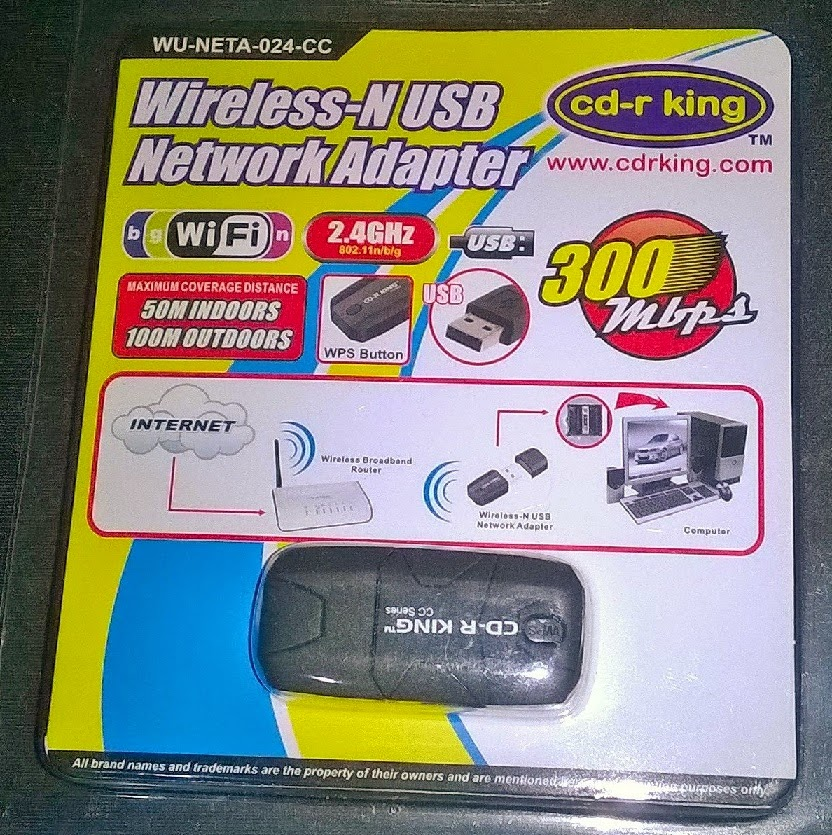 cd r king wireless n usb network adapter 300mbps a. Black Bedroom Furniture Sets. Home Design Ideas
