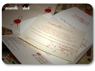 tarjetón invitación boda