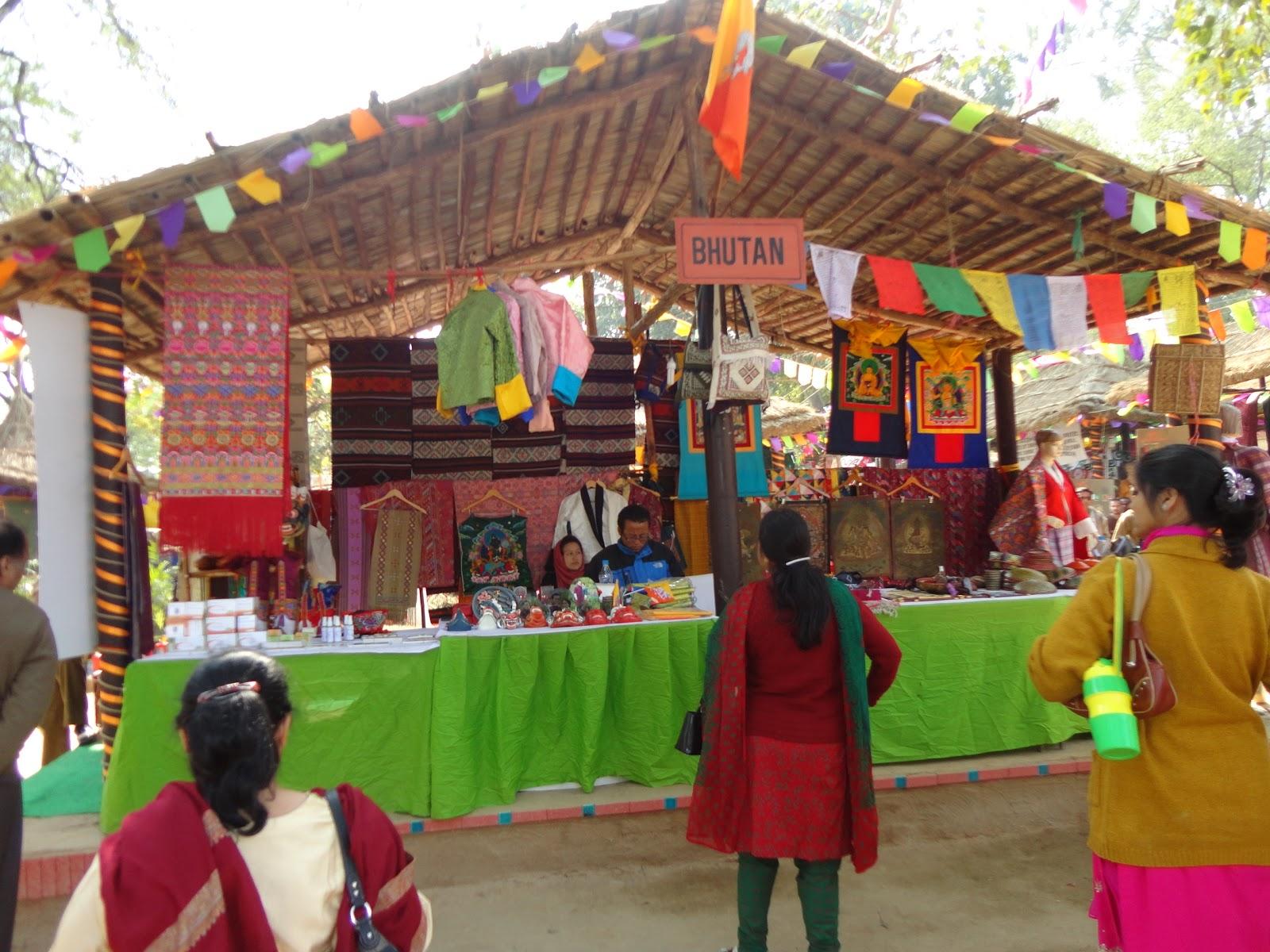 The Bhutan Stall at Surajkund Crafts Mela, India