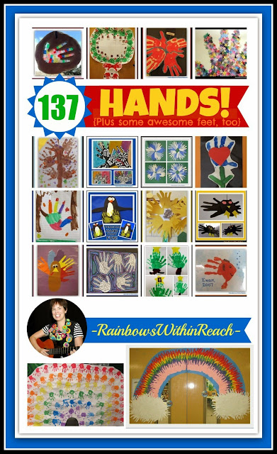 EPIC {Painted} Hands & Feet RoundUP at RainbowsWithinReach